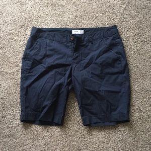 Old navy Bermuda shorts.  Navy blue.